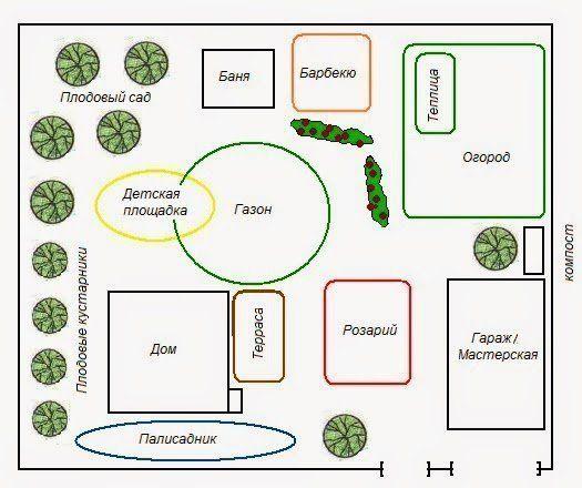 схема распределения фруктовых деревьев на участке победительница верила
