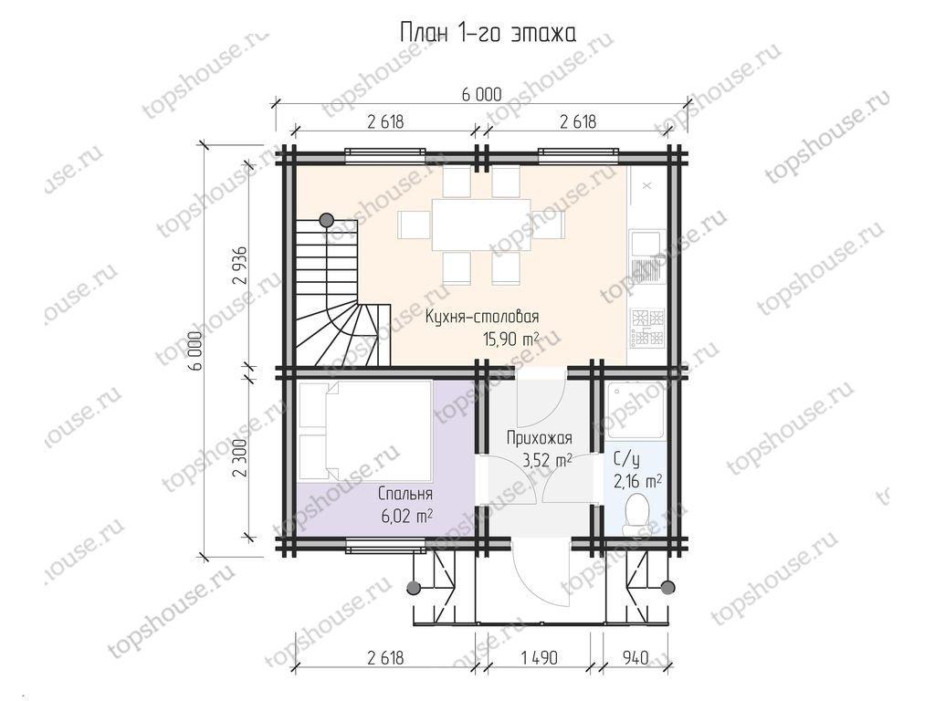 Двухэтажный дачный домик «Вперед в СССР»