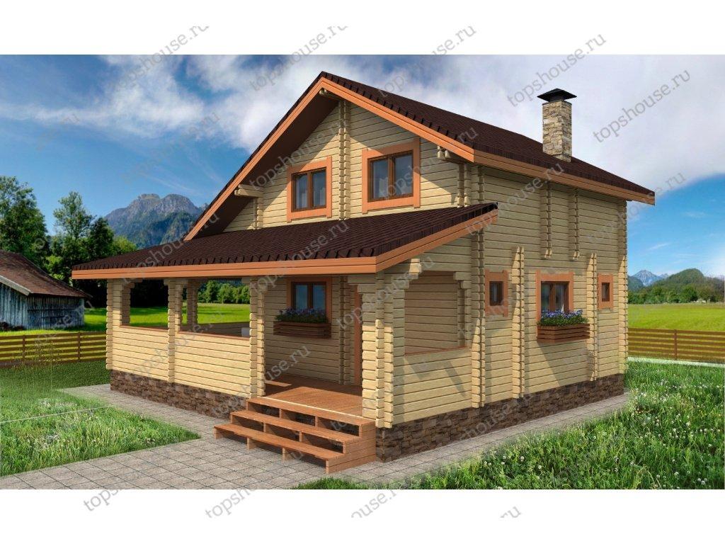 5a70bc1f4626f Дачный дом из двойного бруса «Ранчо»