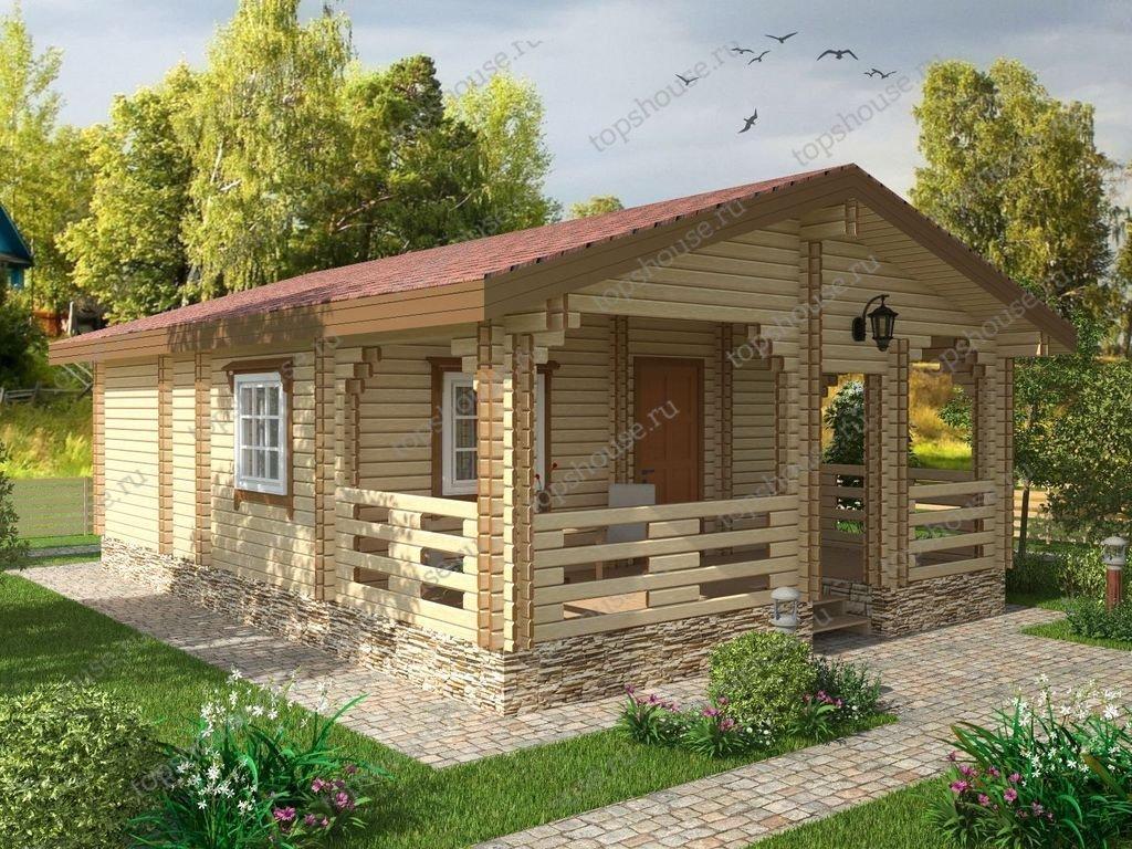 Одноэтажный дачный дом «Сиеста»