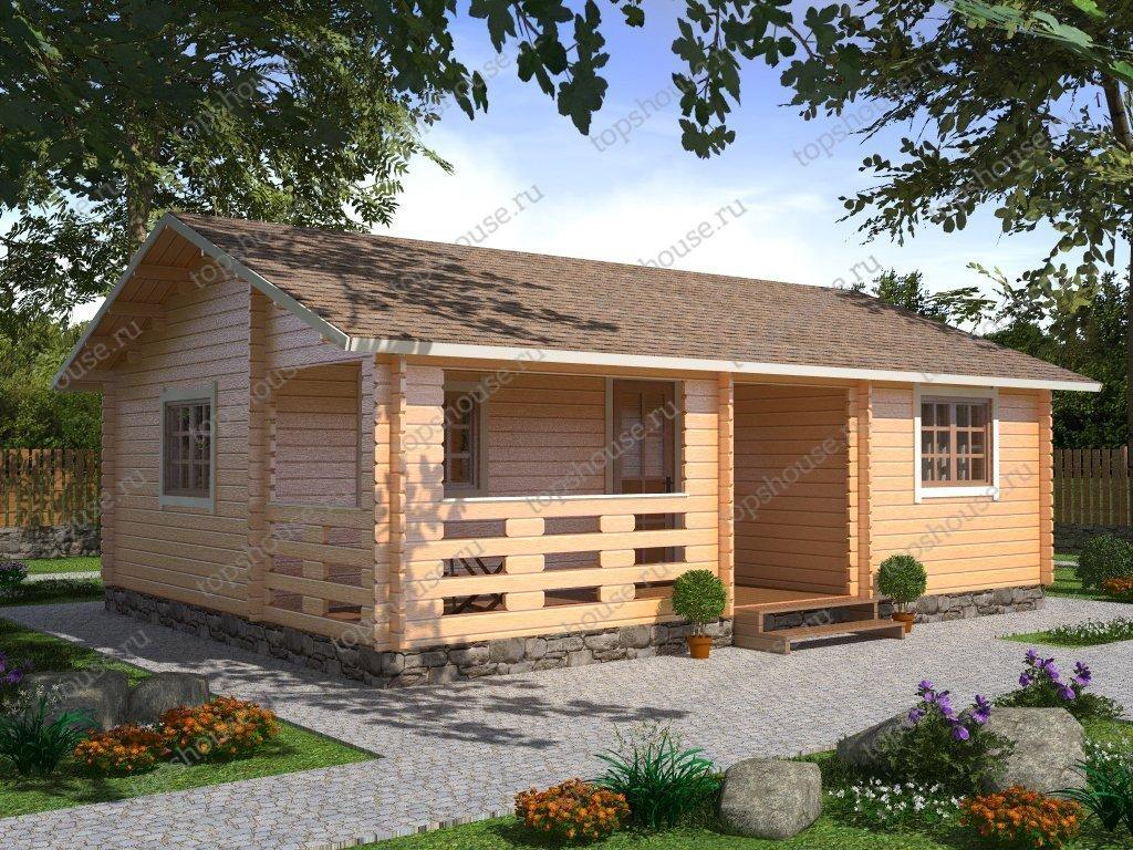 a7d1bdb964196 Дачный дом из бруса 6 х 8 от компании «ТопсХаус» | Заказать брусовый ...