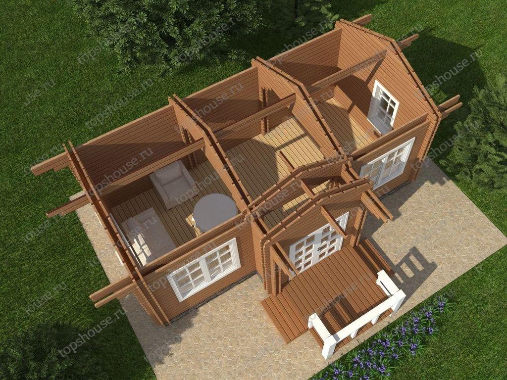 Теплый дом из бруса «Тихая заводь»