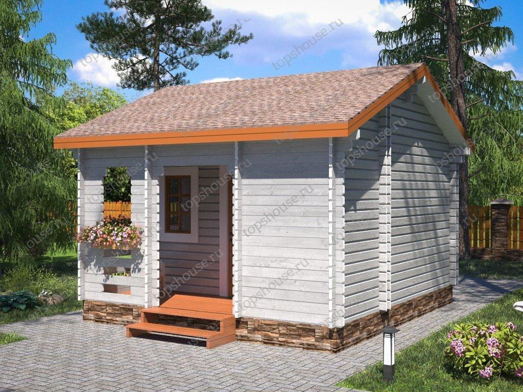 Одноэтажный тёплый дачный дом «Дачный Хит»